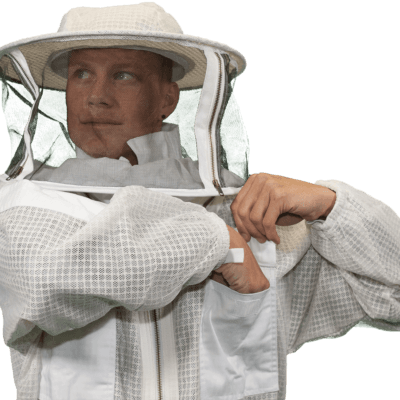 Vented Jacket with Round Veil | Guardian Bee Apparel