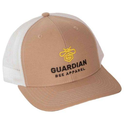 Guardian Bee Hat | White Mesh, Tan Front